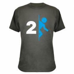 Камуфляжная футболка Portal 2 logo