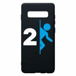 Чехол для Samsung S10+ Portal 2 logo