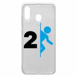 Чехол для Samsung A20 Portal 2 logo