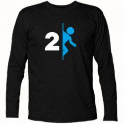 Футболка с длинным рукавом Portal 2 logo