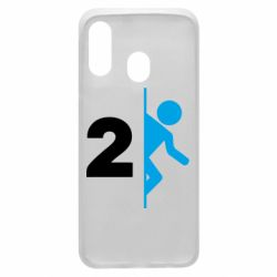 Чехол для Samsung A40 Portal 2 logo