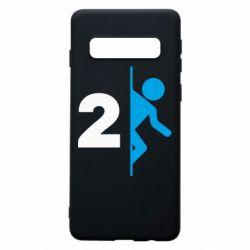 Чехол для Samsung S10 Portal 2 logo