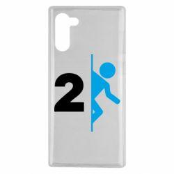 Чехол для Samsung Note 10 Portal 2 logo