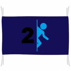 Флаг Portal 2 logo