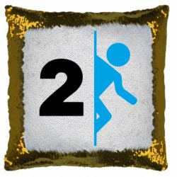 Подушка-хамелеон Portal 2 logo
