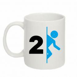 Кружка 320ml Portal 2 logo