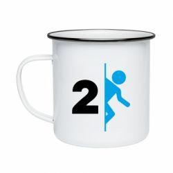 Кружка эмалированная Portal 2 logo