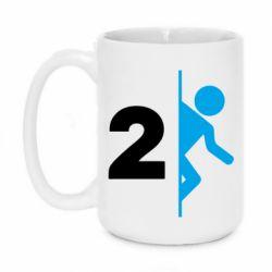 Кружка 420ml Portal 2 logo