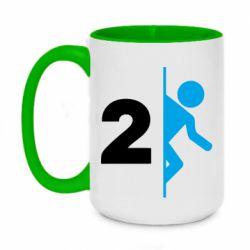 Кружка двухцветная 420ml Portal 2 logo
