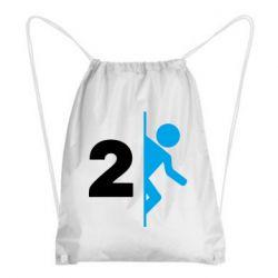 Рюкзак-мешок Portal 2 logo