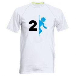 Мужская спортивная футболка Portal 2 logo