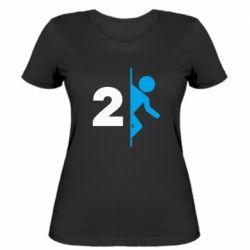 Женская футболка Portal 2 logo