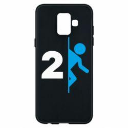 Чехол для Samsung A6 2018 Portal 2 logo