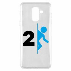 Чехол для Samsung A6+ 2018 Portal 2 logo