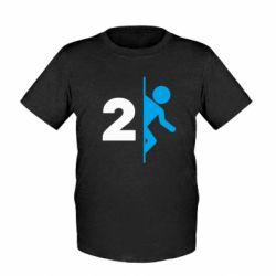 Детская футболка Portal 2 logo
