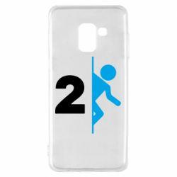 Чехол для Samsung A8 2018 Portal 2 logo