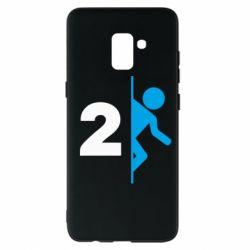 Чехол для Samsung A8+ 2018 Portal 2 logo