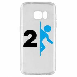 Чехол для Samsung S7 Portal 2 logo