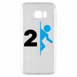 Чехол для Samsung S7 EDGE Portal 2 logo