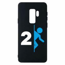 Чехол для Samsung S9+ Portal 2 logo