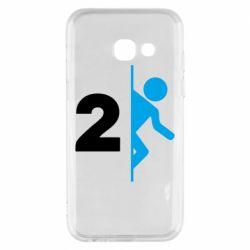 Чехол для Samsung A3 2017 Portal 2 logo