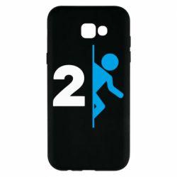 Чехол для Samsung A7 2017 Portal 2 logo