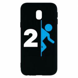 Чехол для Samsung J3 2017 Portal 2 logo