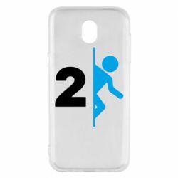 Чехол для Samsung J5 2017 Portal 2 logo