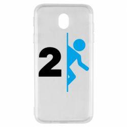 Чехол для Samsung J7 2017 Portal 2 logo
