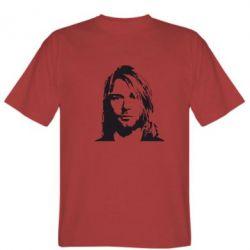 Мужская футболка Портрет Курта Кобейна - FatLine