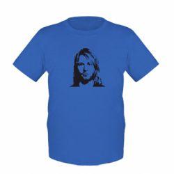 Детская футболка Портрет Курта Кобейна - FatLine