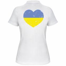 Женская футболка поло Пошарпане серце - FatLine