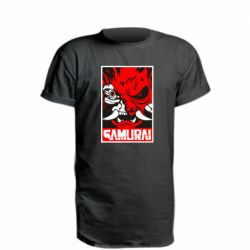 Подовжена футболка Poster samurai Cyberpunk