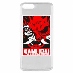 Чехол для Xiaomi Mi Note 3 Poster samurai Cyberpunk