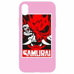 Чохол для iPhone XR Poster samurai Cyberpunk