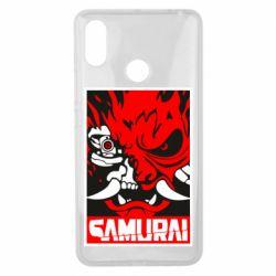 Чехол для Xiaomi Mi Max 3 Poster samurai Cyberpunk