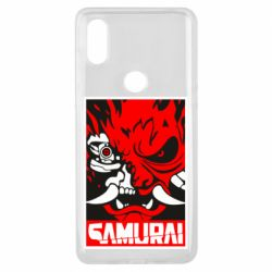 Чехол для Xiaomi Mi Mix 3 Poster samurai Cyberpunk