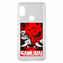 Чехол для Xiaomi Redmi Note 6 Pro Poster samurai Cyberpunk
