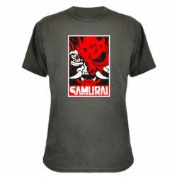 Камуфляжна футболка Poster samurai Cyberpunk
