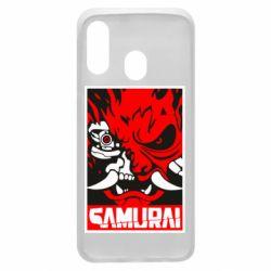 Чохол для Samsung A40 Poster samurai Cyberpunk