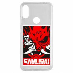 Чехол для Xiaomi Redmi Note 7 Poster samurai Cyberpunk