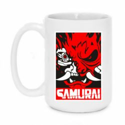 Кружка 420ml Poster samurai Cyberpunk