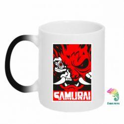 Кружка-хамелеон Poster samurai Cyberpunk