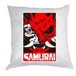 Подушка Poster samurai Cyberpunk