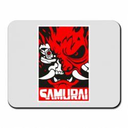 Килимок для миші Poster samurai Cyberpunk