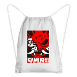 Рюкзак-мішок Poster samurai Cyberpunk