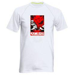 Чоловіча спортивна футболка Poster samurai Cyberpunk