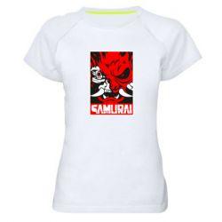 Жіноча спортивна футболка Poster samurai Cyberpunk