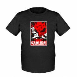 Дитяча футболка Poster samurai Cyberpunk