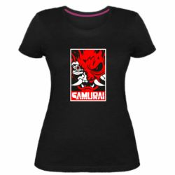 Жіноча стрейчева футболка Poster samurai Cyberpunk